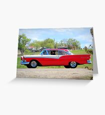 Prom Chariot...57 Ford Fairlane 500 Greeting Card