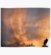 Clouds in the sunset Poster