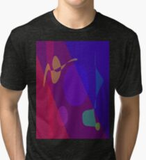 Family in the Evening Tri-blend T-Shirt