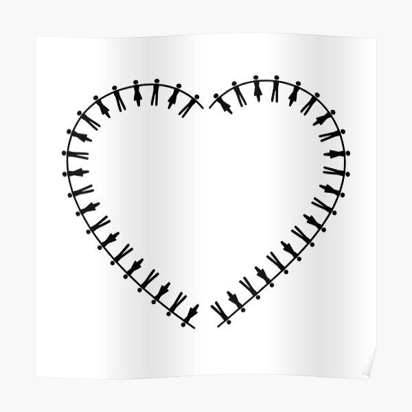 Hearts Human Chain Poster