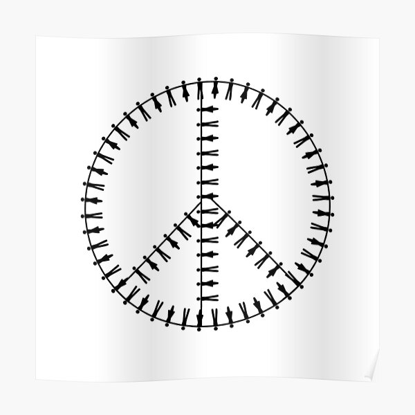 Peace Human Chain Poster