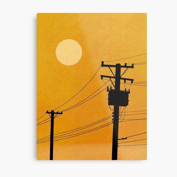 Utility Poles Metal Print