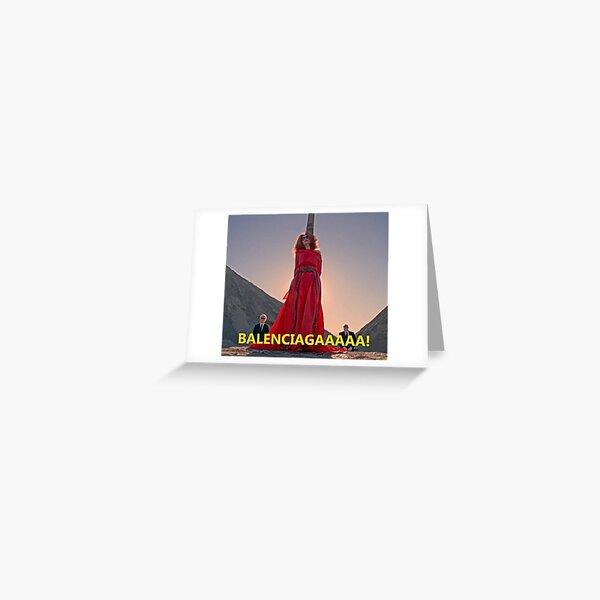 Myrtle Snow AHS Balenciagaaa Greeting Card