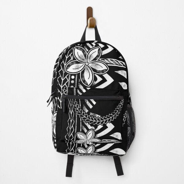 Vintage Samoan Distressed Black Tribal Backpack