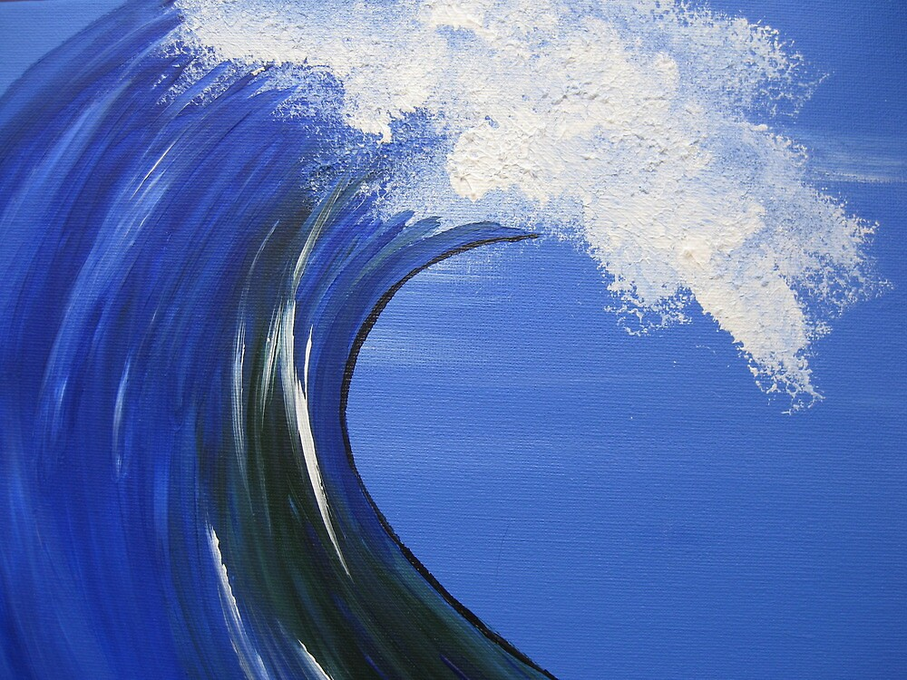 crest of the wave- an ocean painting- sea dreams by cathyjacobs