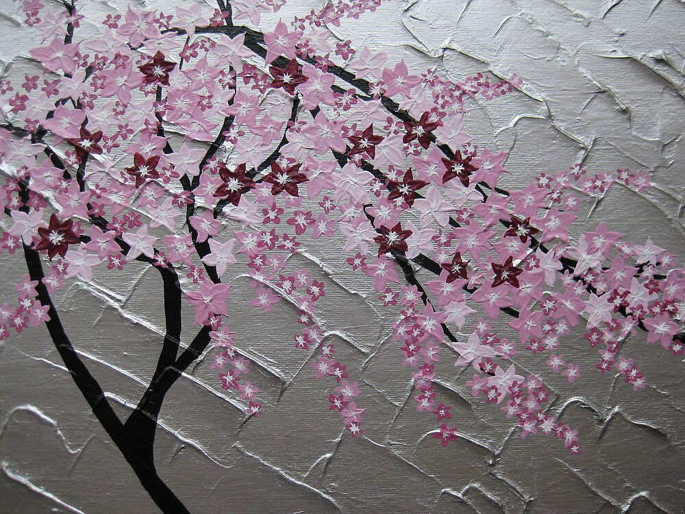 Quot Cherry Blossom Tree Art With White And Pink Japanese