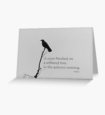 Greeting Card with Crow Greeting Card