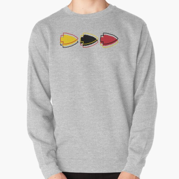 Chiefs Arrowhead Pattern on White Pullover Sweatshirt