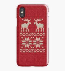 Moose Pattern Christmas Sweater Knit iPhone Case/Skin