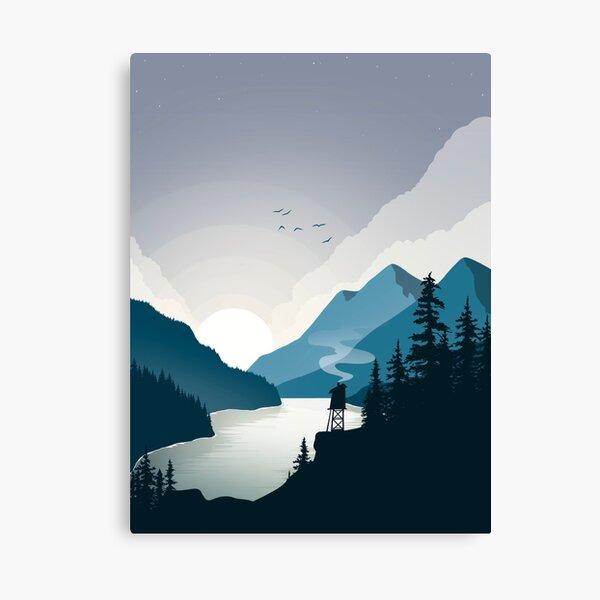 Mountain House Landscape Canvas Print