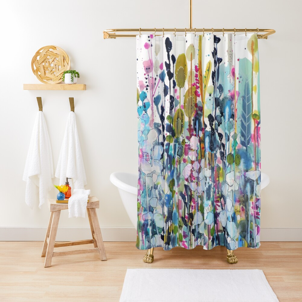 colorful side road Shower Curtain