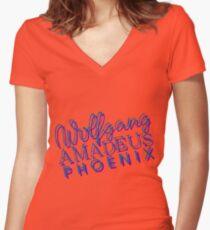 Wolfgang Amadeus Phoenix Music T-Shirt Women's Fitted V-Neck T-Shirt