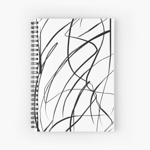 Black and White Swirl Spiral Notebook