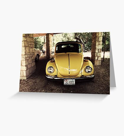1970s VW Bug Greeting Card