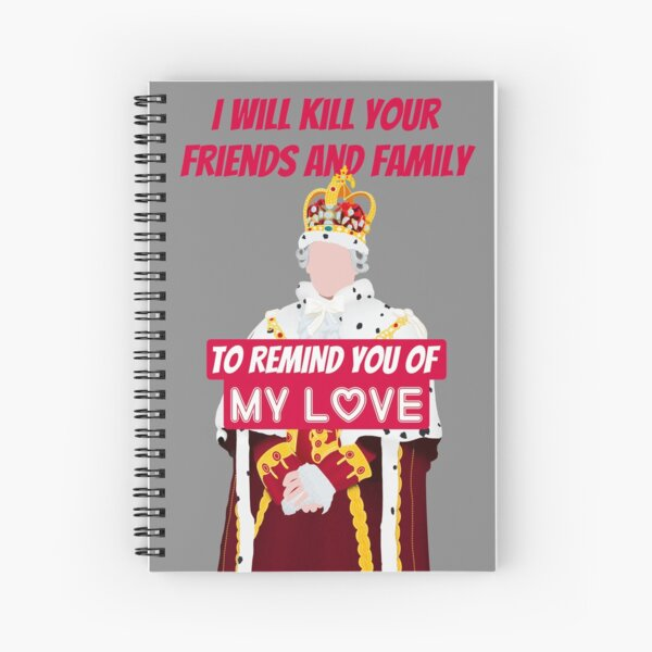 "King George ""Love"" Hamilton on Broadway Spiral Notebook"