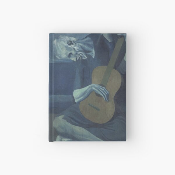 The Old Guitarist - Pablo Picasso  Hardcover Journal