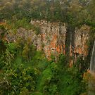 Purling Brook Falls .. wide view by Michael Matthews