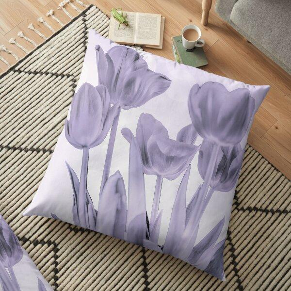 Tulips (b&w) Floor Pillow