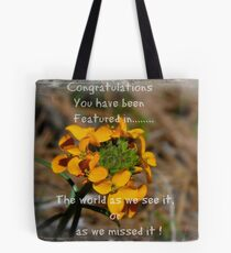 Group Floral feature . Tote Bag