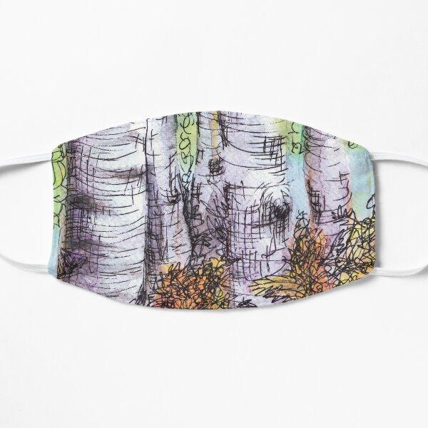 Birch Trees Flat Mask