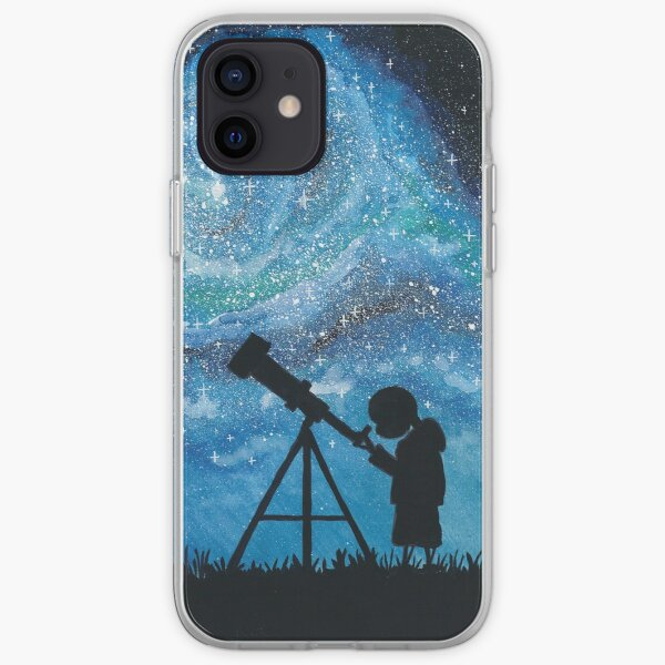 Observing the Universe ~ Watercolor Painting iPhone Soft Case