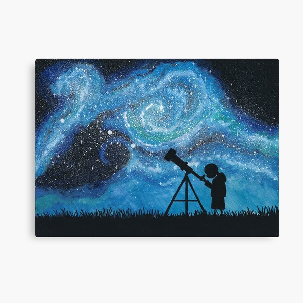 Observing the Universe ~ Watercolor Painting Canvas Print