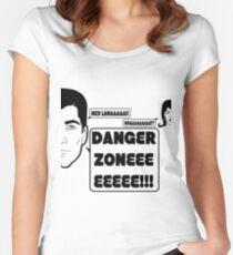 Dangah Zone BLK Women's Fitted Scoop T-Shirt