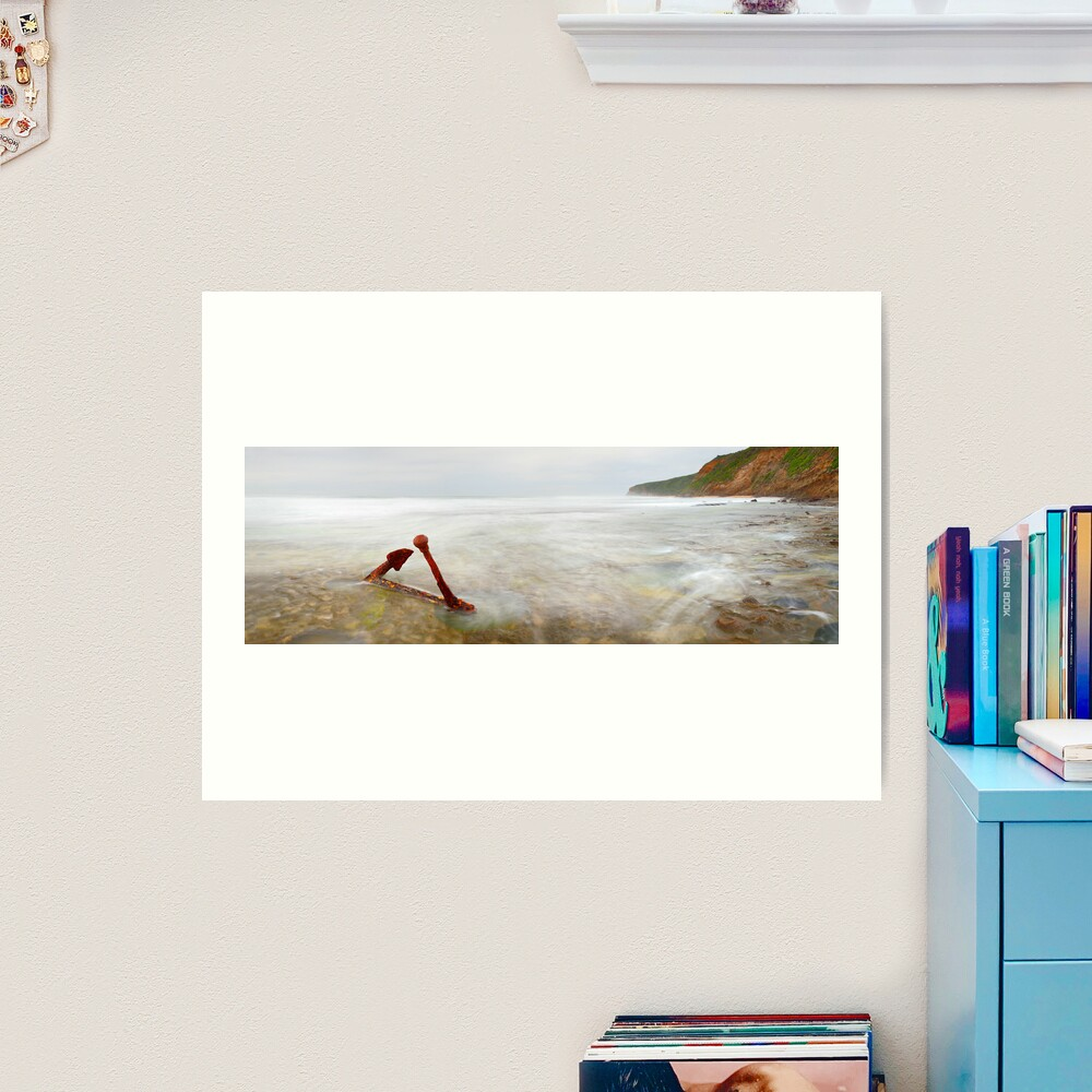 Marie Gabrielle Anchor, Shipwreck Coast, Victoria, Australia Art Print