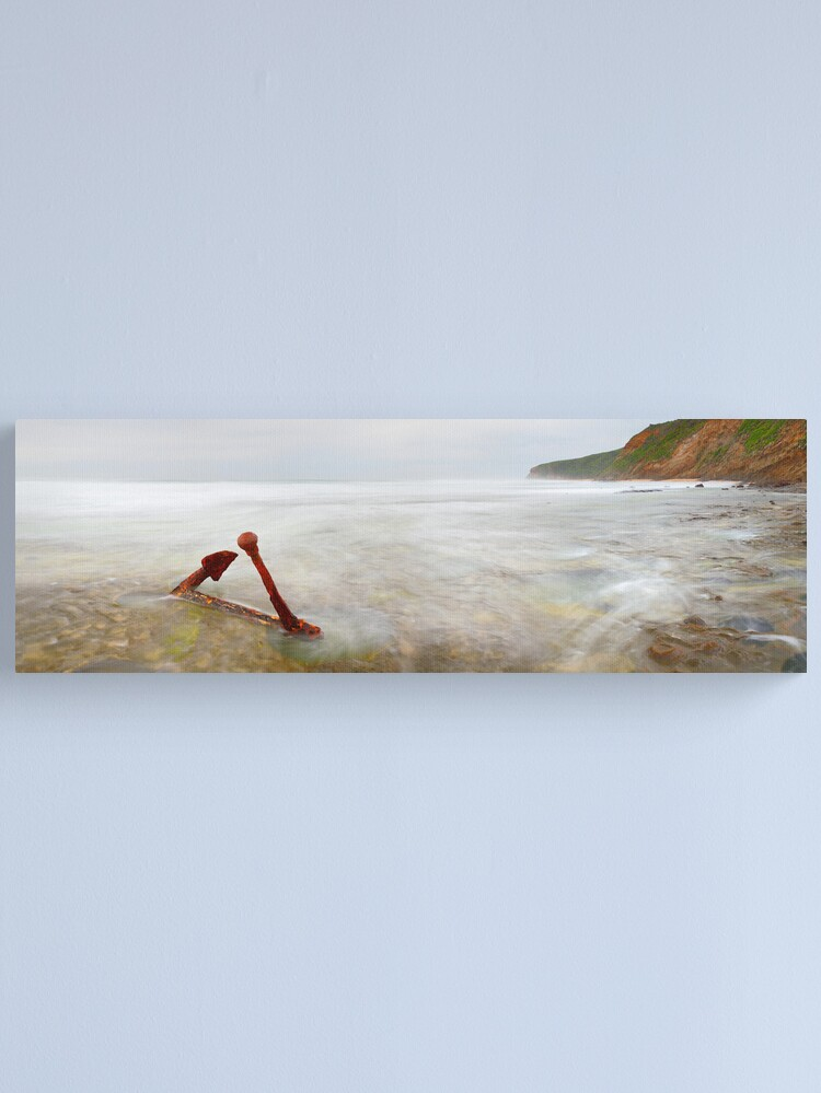Alternate view of Marie Gabrielle Anchor, Shipwreck Coast, Victoria, Australia Canvas Print