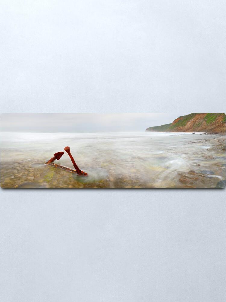 Alternate view of Marie Gabrielle Anchor, Shipwreck Coast, Victoria, Australia Metal Print