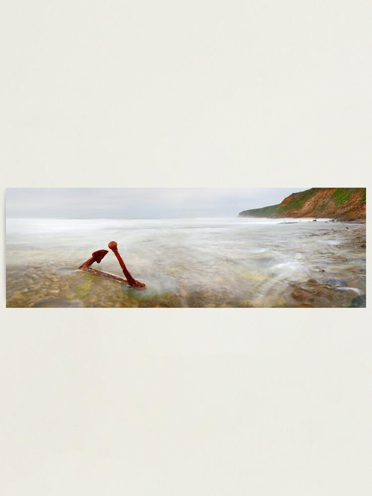Alternate view of Marie Gabrielle Anchor, Shipwreck Coast, Victoria, Australia Photographic Print