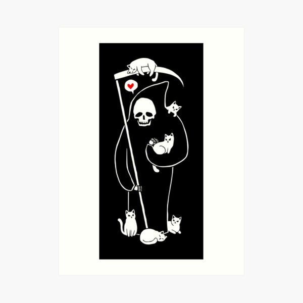 Death Is A Cat Person Art Print