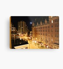 Empress Hotel at NIght - Side View Metal Print