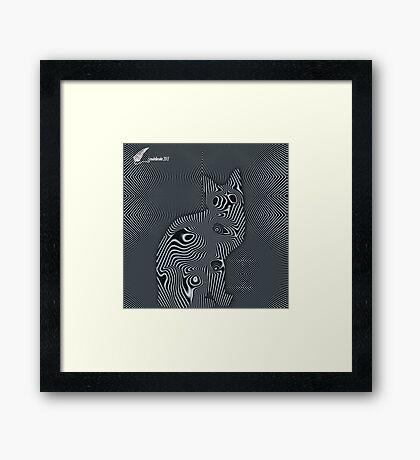 Cat - Hypnotic Framed Print