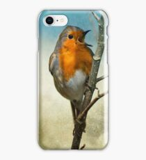 Christmas Robin iPhone Case/Skin