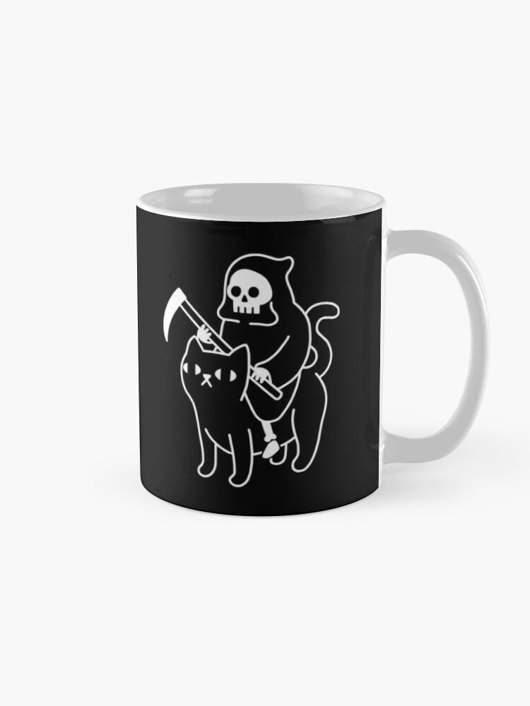Alternate view of Death Rides A Black Cat Mug