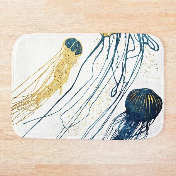 Metallic Jellyfish II Bath Mat