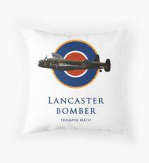 Lancaster bomber logo Throw Pillow