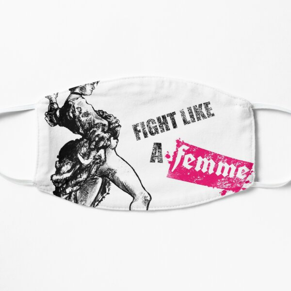 Fight Like A Femme - Queer Slogans Mask