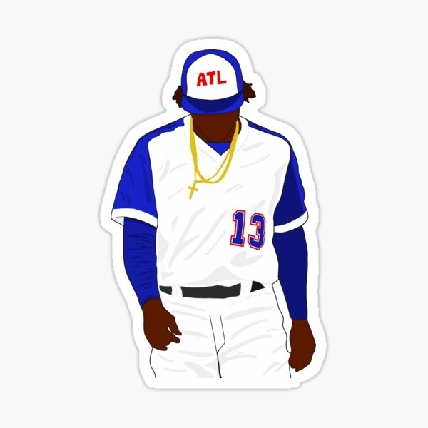 Ronald Acuna Jr. Braves Sticker