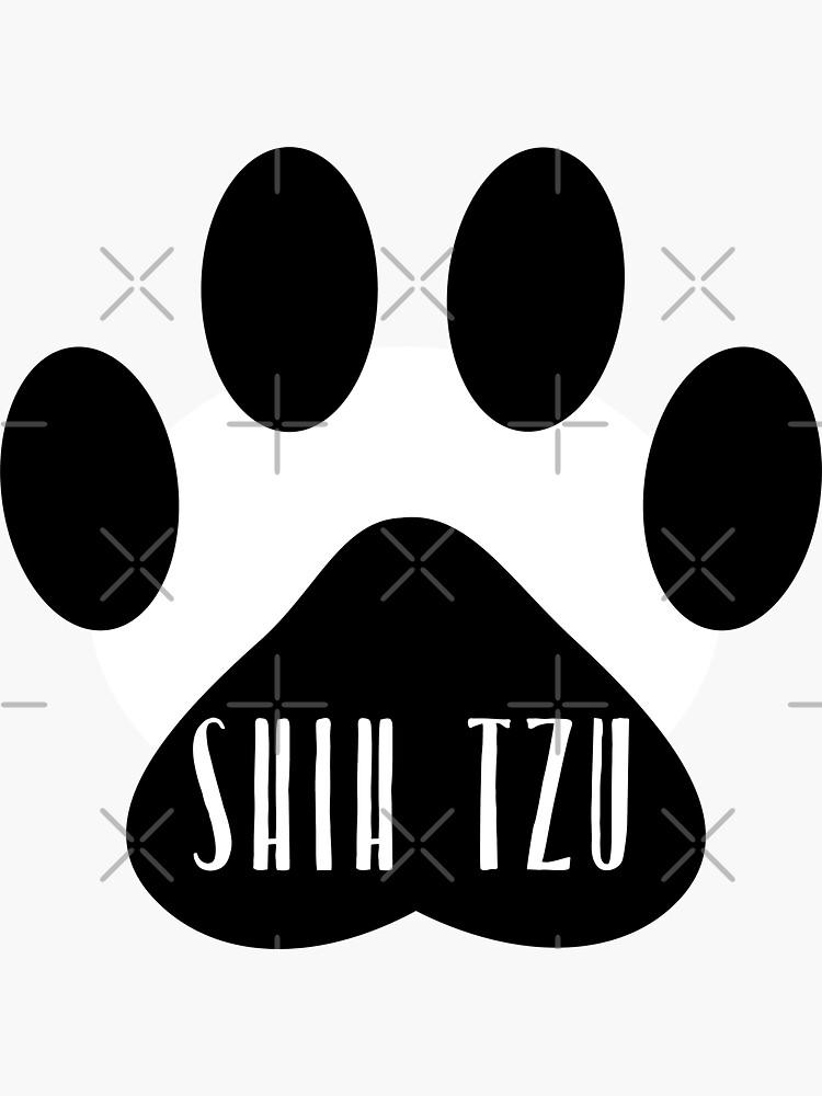 Shih Tzu Paw Print Seal by chanzds