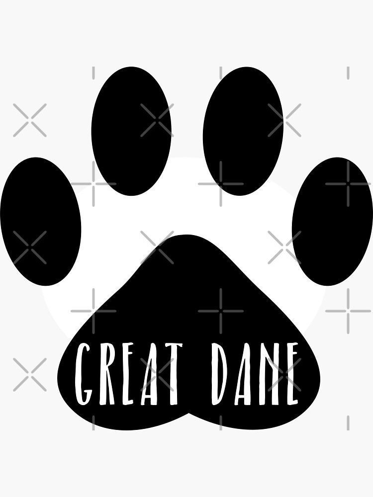 Great Dane Paw Print Seal by chanzds