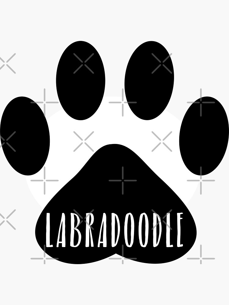 Labradoodle Paw Print Seal by chanzds