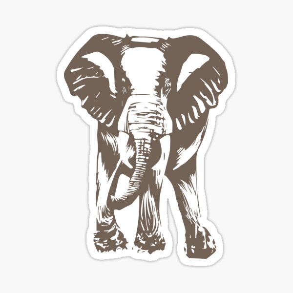 Elephant print Sticker