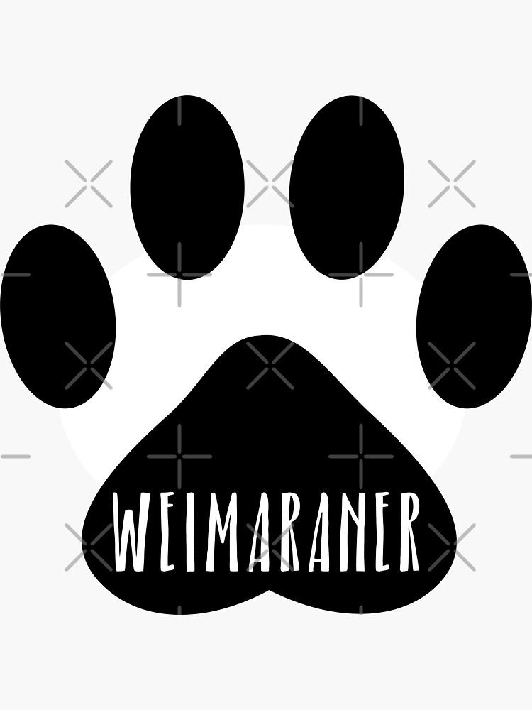Weimaraner Paw Print Seal by chanzds