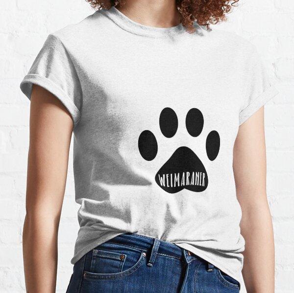 Weimaraner Paw Print Seal Classic T-Shirt