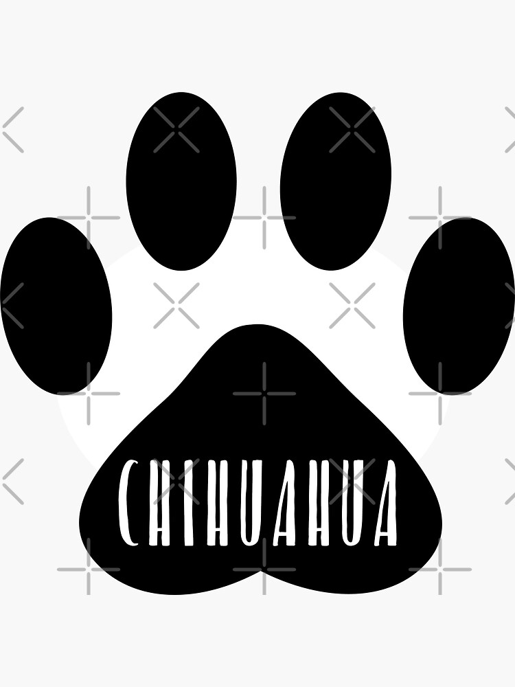 Chihuahua Paw Print Seal by chanzds