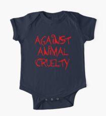 Against Animal Cruelty One Piece - Short Sleeve