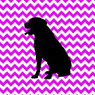 Perfectly Pink Chevron With Labrador Retriever by pjwuebker