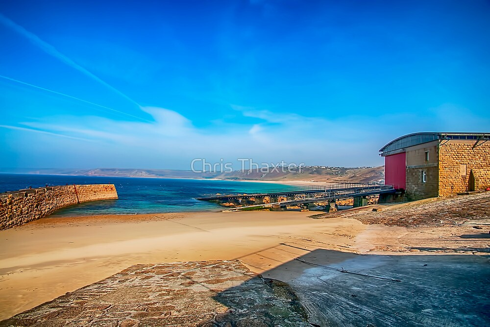 Low tide at Sennen Cove 2 by Chris Thaxter